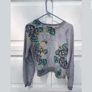 J. Crew Women's aquatic floral sweatshirt